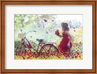 Flowers Girl Fine Art Print