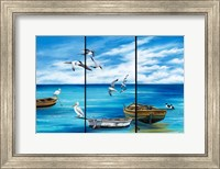 Fishing Boats and Birds Fine Art Print