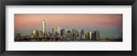 NYC Panoramic At Sunset 2 Fine Art Print