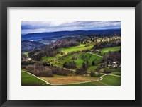 Aerial View of the Hills Near Zurich Fine Art Print