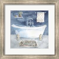 Watercolor Bathroom I Fine Art Print