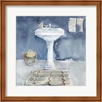 Watercolor Bathroom II Fine Art Print