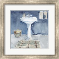 Watercolor Bathroom II Fine Art Print