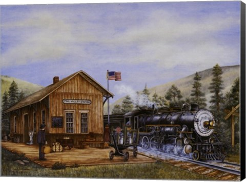 Framed Pine Valley Station Print