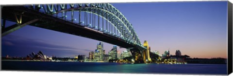 Framed Low angle view of a bridge, Sydney Harbor Bridge, Sydney, New South Wales, Australia Print