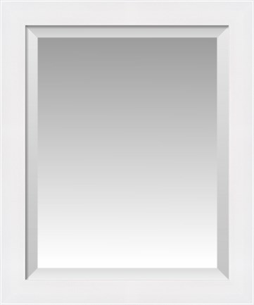 Standard Solid White Flat Front With Satin Finish Beveled Wall Mirror Custom Framed Mirrors Fulcrumgallery Com