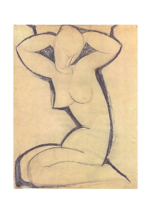 Cariatide - nude by Amedeo Modigliani