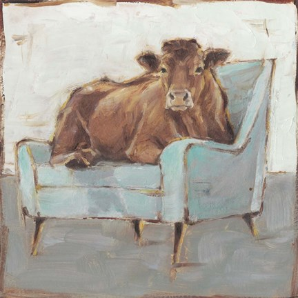 Framed Moo-ving In IV Print