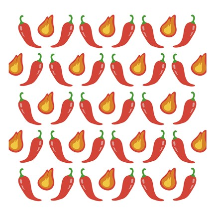 Framed Fire Peppers Print