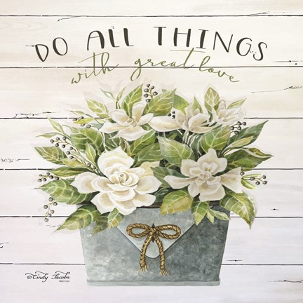 Framed Do All Things with Great Love Print