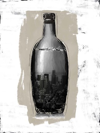 Framed Bottle II Print
