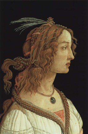 Framed Portrait of a Young Woman, 1485 Print