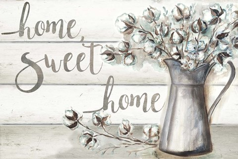 Framed Farmhouse Cotton Home Sweet Home Print