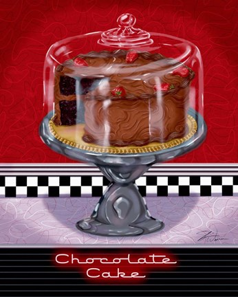 Framed Chocolate Cake Print