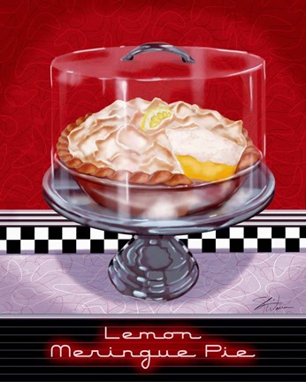 Framed Lemon Meringue Pie Print
