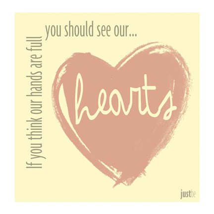 Framed Hearts Print