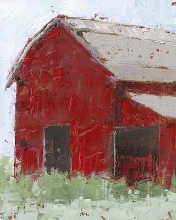 Big Red Barn Ii Fine Art Print By Ethan Harper At Fulcrumgallery Com