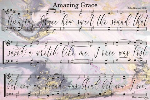 photo relating to Amazing Grace Lyrics Printable known as Entrance Porch Pickins Outstanding Grace Lyrics