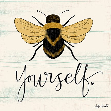 Framed Bee Yourself Print