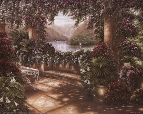Villa Scaletta Fine Art Print By Betsy Brown At