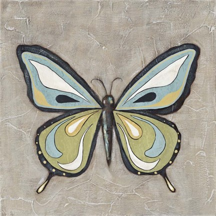 Framed Graphic Spring Butterfly I Print