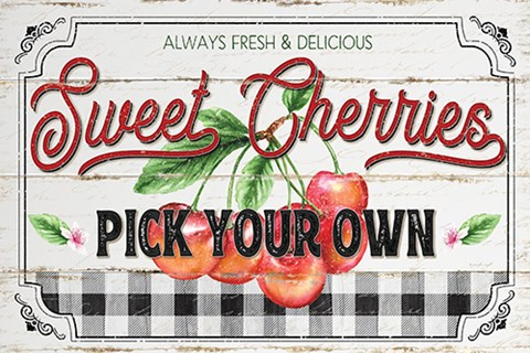 Framed Sweet Cherries Print