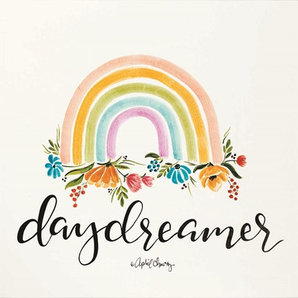 Framed Daydreamer Rainbow Print