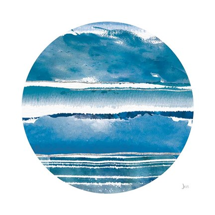 Framed By the Sea Circle Print