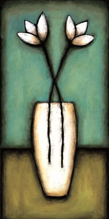 Framed Water Blossoms I Print