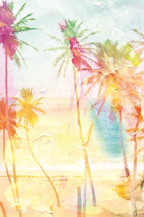 Framed Bright Summer Palms Print