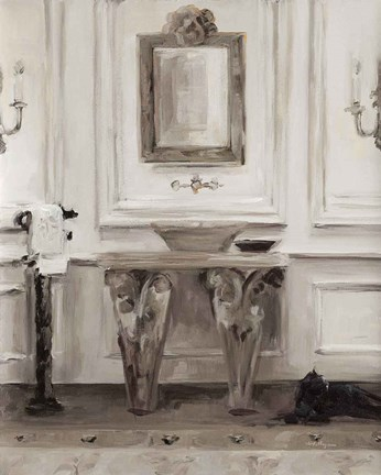 Framed Classical Bath I Gray Print