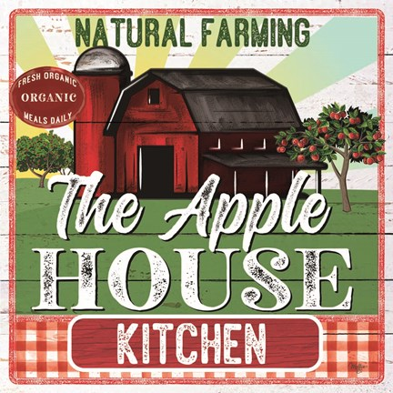 Framed Apple House Kitchen Print