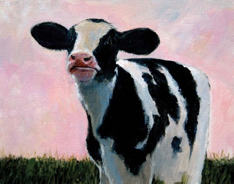 Framed Looking At You - Cow Print
