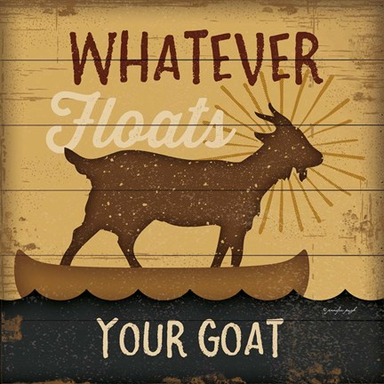 Framed Floats Your Goat Print
