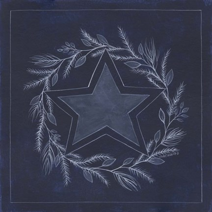 Framed Blue Star Print