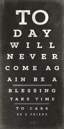 Framed Eye Chart III Print