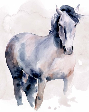 Framed Horse in Watercolor I Print