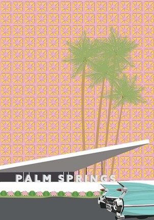 Framed Palm Springs with Convertible Print