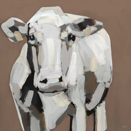 Framed Shaded Cow II Print