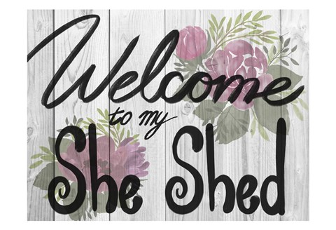 Framed Welcome She Shed 1 Print