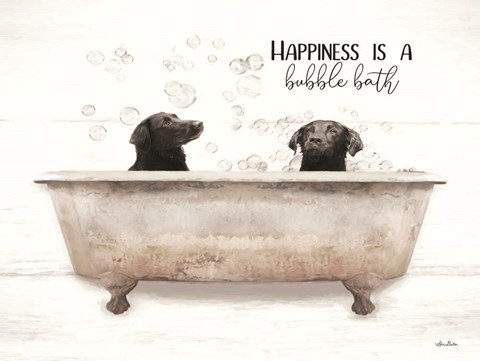 Framed Happiness is a Bubble Bath Print