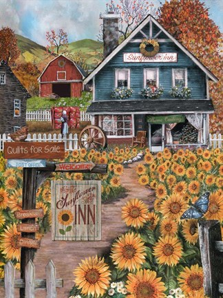 Framed Sunflower Inn Print