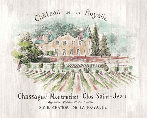 Framed Chateau Royalle on Wood Color Print