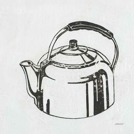 Framed Retro Tea Kettle Print