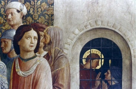 Framed Judgement of St Laurence (detail), Mid 15th Century Print