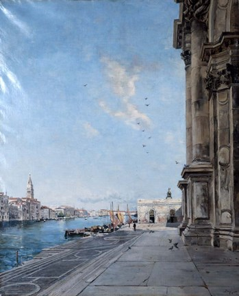 Framed View from the Church of Madonna della Salute, 1892 Print