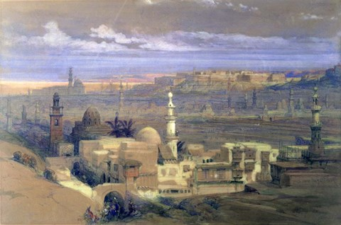 Framed Cairo from the Gate of Citizenib, 19th century Print