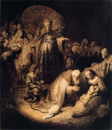 Framed Adoration of the Magi, 1632 Print