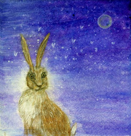 Framed Hare And The Moon Print
