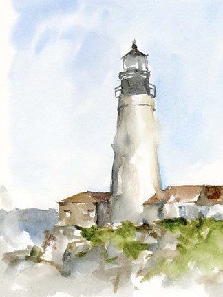 Framed Plein Air Lighthouse Study II Print